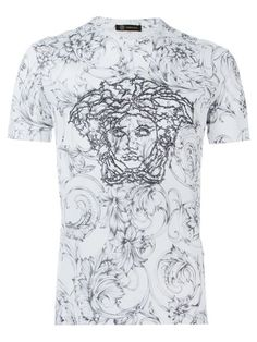Shop Versace embellished Medusa T-shirt  in Julian Fashion from the world's best independent boutiques at farfetch.com. Shop 300 boutiques at one address.