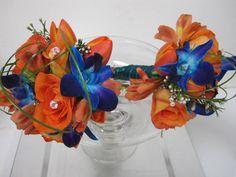 Orange & Blue Bouquets