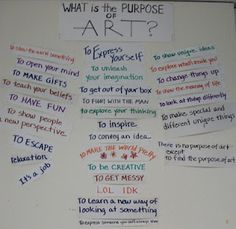 Studio-Learning: The Purpose of Art High School Art, Middle School Art, Why Is Art Important, Art Bulletin Boards, Art Room Posters, Art Critique, Art Criticism, Art Worksheets, Art Curriculum