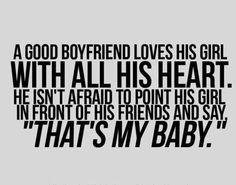 I have a good boyfriend :)