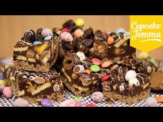 Easter Egg Chocolate Fridge Cake - the best way to use up your Easter Eggs! - | Cupcake Jemma - YouTube