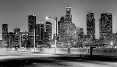 Downtown Los Angeles Skyline.