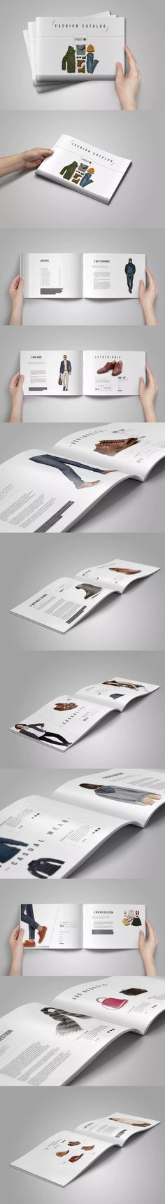 Horizontal Product Catalog Template InDesign INDD - A4 and Letter Size