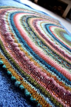 Citron: a gorgeous shawl, this may be the most beautiful of them all! I knit one of these--must try again with this yarn.