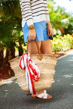 Find a cute beach bag. {via Kendi Everyday}