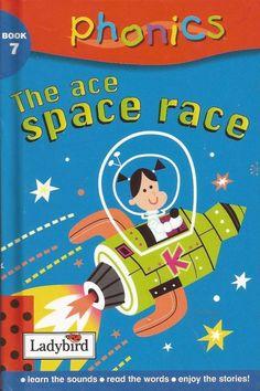 Ladybird - Phonics - Book 7 - The Ace Space Race - Hardcover -  S/Hand