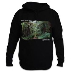 Redwood Forest, Rotorua - Walk in the Park - New Zealand Hoodie Redwood Forest, Gray Background, Kiwi, New Zealand, Cool Designs, Walking, Hoodies, Park, Products