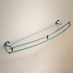 alternative downstairs bathroom: Caroma Cosmo Metal Shower Shelf - Single $54.09
