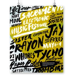 Sacramento Electronic Music Festival Campaign by William Leung, via Behance