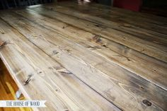 Ana White - Homemaker. Pre stain, Weathered Oak, Special Walnut, white wash, special walnut/weathered oak mix, then sealed. Beautiful.