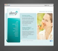 Webdesign e desenvolvimento do site para a clínica Allergi, de Itajaí - SC (2011). www.allergi.com.br
