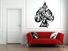 Wall Vinyl Sticker Decals Mural Room Design Pattern Art Game Suit Of Spades Fun bo1763 by RoomDecalsAndDesigns on Etsy