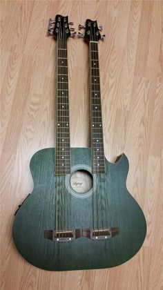 Double Neck Acoustic Electric 5 String 4 String Bass Guitar