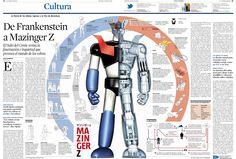 Infografía a La Vanguardia: Mazinger Z está en el salón