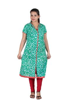 Buy Mother Home Women Cotton Kurti - MHRPL-1328 (Green) with cheapest price at Grabmore.in - Online Shopping of Clothing & Accessories in India.