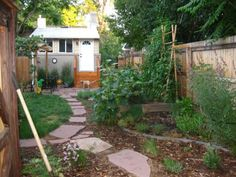 pinterest urban farm backyard design | Small Urban Backyard Metamorphosis, Our small half-duplex backyard in ...