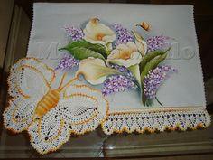 Artes em Crochê e Pintura: borboleta em croche