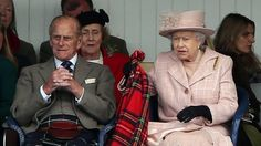 BBC News - The Queen, Prince Philip and Prince Charles attend the Braemar Gathering