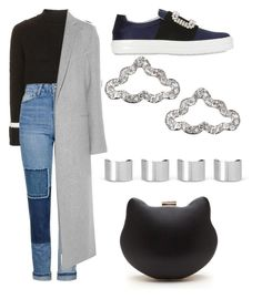"""""""Untitled #66"""" by kimtahyung on Polyvore featuring Topshop, Roger Vivier, ADAM and Maison Margiela"""