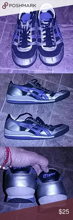 Onitsuka Tiger Vintage  Men's Tennis These awesome Tiger tennis are very comfortable, preloved in great condition,  no rips, very clean. Has alot of wearing to go.  Size 8 1/2  Sell as is. No trades Firm Price Onitsuka Tiger by Asics Shoes Sneakers
