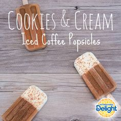 International Delight Iced Coffee, Coffee Popsicles, Honey Coffee, Coffee Ice Cubes, Summer Meal Planning, Tasty, Yummy Food, Milk And Honey, Cookies And Cream