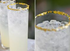 Edible gold star* glitter sugar Rim