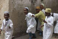 Exuberant Stone Town children Stone Town, Alleyway, East Africa, I Fall, Muslim, Explore, Adventure, Children, Kids