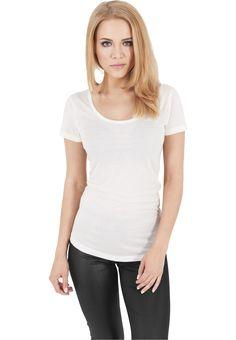 Urban Classics Ladies Basic Viscon Tee Damen T-Shirt Weiß
