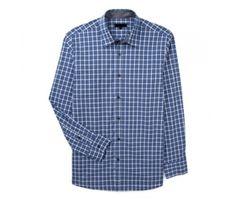 Indigo Blue Check Shirt Manufacturers In USA, UK and Australia