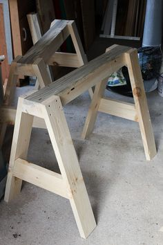 sawhorse canoe stands how to make-2542