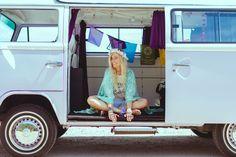 Bus Girl, Surfs Up, Camper, Lime, Coconut, Van, Creative, Girls, Toddler Girls