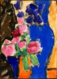 Alexej von Jawlensky (1864-1941) Russisch-Duitse expressionistisch schilder Na korte loopbaan in Russisch leger studies kunsten te Sint-Petersburg. In 1921 weer in Duitsland alwaar stichting in 1924 van 'Die blauen Vier' met Klee, Kandinski en Feininger. Zijn voornaamste werken waren toen series koppen, die hij steeds abstracter schilderde. Vanaf 1933 was zijn werk in Duitsland officieel verboden (entartet), maar in het buitenland kwam er steeds meer belangstelling voor.