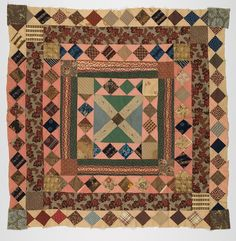 Gift of Willard B. Old Quilts, Antique Quilts, Small Quilts, Mini Quilts, Vintage Textiles, Vintage Quilts, Crib Quilts, Quilt Block Patterns, Quilt Blocks
