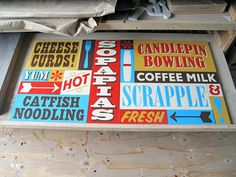 Studio Snaps – signpainter Jeff Canham on Kidrobot Blog #signpainting #signs #typography #handwriting #lettering #drawing #fonts