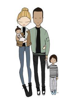 Doutzen Koroes family portrait