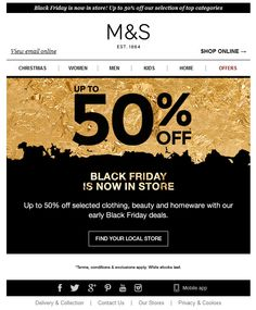 M&S Black Friday