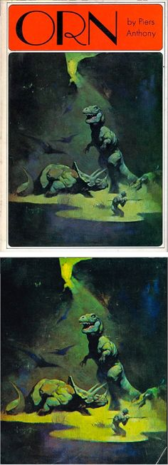 FRANK FRAZETTA - Orn by Piers Anthony - 1971 Nelson Doubleday / SFBC - print/cover by capnscomics.blogspot.com