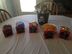 Pirate snacks for a teen girls party