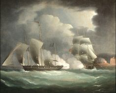 Pirate Legends | and Maritime Paintings and Art - Pursuit of a Pirate Lugger - Legend ...