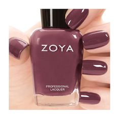 Shop for Zoya Nail Polish the longest wearing, natural nail polish available. Zoya Nail Polish is toluene, formaldehyde, DBP and Camphor Free. Over 300 Healthy Nail Polish Shades Available. Mauve Nail Polish, Fall Nail Polish, Mauve Nails, Nail Polish Colors, Glitter Nails, Gray Polish, French Nails, Cream Nails, Fall Nail Colors