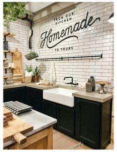 Bar idea, dark cabinets with concrete tops