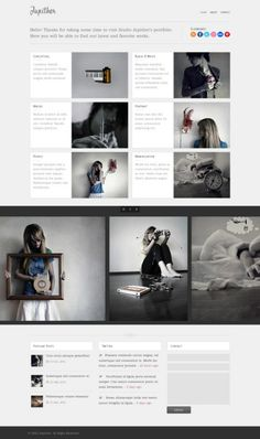 Jupither Free Homepage PSD
