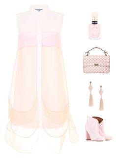 CM-E2615XW-PT 14k White Gold Oval Pink Topaz And Diamond Earrings