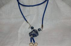 Sodalite, clear quartz and Sterling Silver