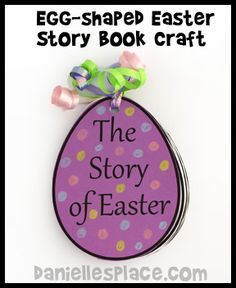 Easter Story Egg-shaped Book Bible Craft from www.daniellesplace.com