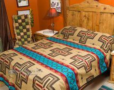 Southwestern Woven Tan Bedspread