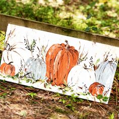 Original Artwork and Designs by Haley Bush by HaleyBDesigns Autumn Painting, Autumn Art, Original Artwork, Original Paintings, Pumpkin Pictures, Mini Canvas Art, Pumpkin Art, Painting Workshop, Shabby