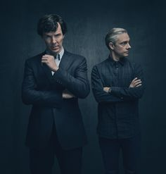 Benedict Cumberbatch and Martin Freeman reunite in stylish new Sherlock image #Sherlock