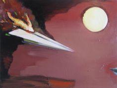 Airplane II - Kunstner, Kunstmaler, Marck Fink, Maleri, Farverig, Ekspressio.., Grafisk, Surrealisme, : www.artunika.dk / www.artunika.com Airplane II – 60x45 cm. Et maleri af Marck Fink...