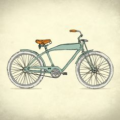 Retro-bicycles (1903) Art Print by Calvin Wu   Society6